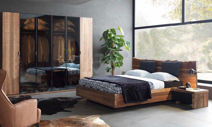 Ahşap Ceviz Yatak Odası