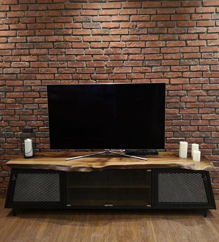 Ağaç Metal Tv Ünitesi